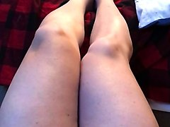 Wife watching porn masturbating leg wide open hd