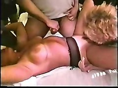 Gangbang, Husband watches bbw wife get gangbanged by black cocks dped