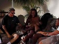 Black, Amateur threesome sex orgy with 2 black girls and a white guy black girls 1 white guy