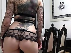 Goth, Riding, Dildo, Solo monster tits