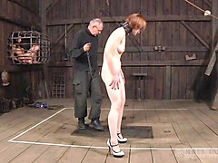 Slave, Redhead, Tied slave anal insertion
