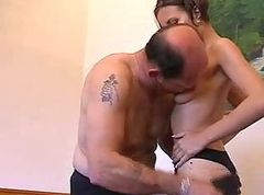 Asian sult step daughter and father in hotel