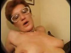 Glasses, Hairy, Ass, Redhead granny glasses