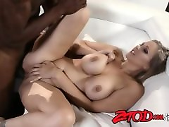 Bus, Blonde, Interracial, Teen get fucked