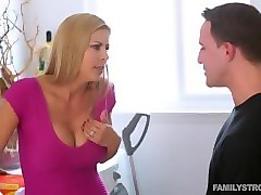 Mom and son taboo sex in front father