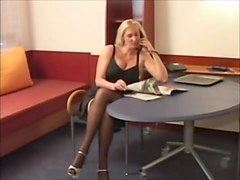 Blonde, German, Nylon, Milf, Aunt and nephew in 69 position
