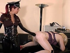 Femdom, German, Police, Strapon, Police women sara jay and ava devine gets fucked