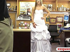 Blonde, Bride, Cute, Dress, Shemale bride