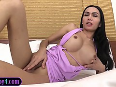 Anal, Asian, Ladyboy, Big Tits, Asian boy fucks his mother. while sleeping