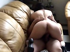 Leather, Orgasms the girlfriend lets him cum inside