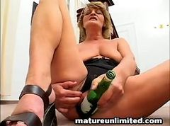 Bottle, Wife tied up and women makes love to her