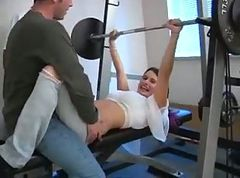 Gym, Gym teacher fucks brunette student at his house makes her squirt