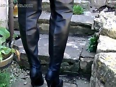 Blonde, Boots, Upskirt, Smoking, Canadian tattooed backpage escort mylene on casting couch