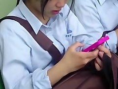 Upskirt, Uncensored g-queen upskirt schoolgirl pussy.korean