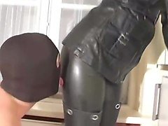 Leather, Slave, Ass, Milf leather