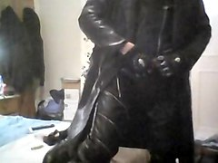 Leather, Big Cock, Leather pants blow