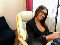 Czech, Stockings, Secretary, Solo sexy black dress and stockings