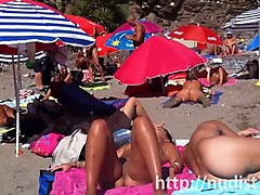 Nudist, Beach, Caught, Spy, Gay brother caught by sister and used