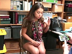 Teen, Backroom, Brunette backroom casting couch