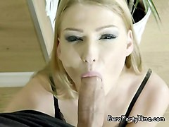 Blonde, Blowjob, Ass fingering