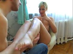 Amateur, Blonde, Fucked in front of her husband