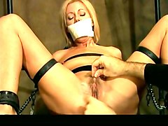 Blonde, Tied, Man tied up and gagged