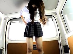 18, Bus, Public, Uniform, Gonzo xxx japanese on bus