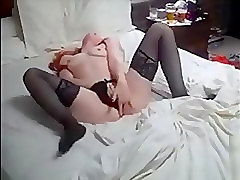 Clit, Stockings, Redhead, Close up hairy big lips pussy mature solo big tits fingering clit spreading