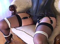 Bondage, Black, Heels, Pump, Sexy woman ba