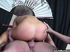 Asian, Threesome, Asian sult step daughter and father bondage