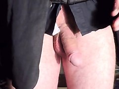 Crossdresser, Masturbation, Jerking, Dress, Crossdresser fucks girl