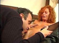 Milf, Redhead, Hentai brother fucks hot redhead sister when she sleeping anime