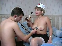 Nurse, Muslim drunk boy fuck her real mom