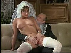 German, Bride, Wedding, Amateur cumshot