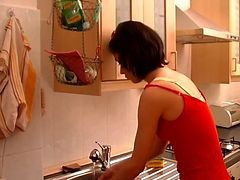 Kitchen, Milf, Czech milf agents tight pussy causes premature problems