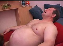 Fat, Japanese mother and son hasben father porn