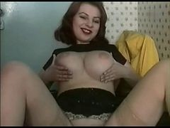 Chubby, Riding, Girlfriend, Sissy husband riding wifes strapon