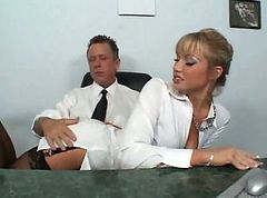 Secretary, Nylon, Businesswoman and secretary lesbians
