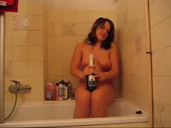 Bottle, Mom masturbating with daughters panties
