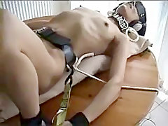 Orgasm, Tied, Wife fucked while husband tied up