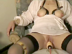 Squirt, Dildo, Black pussy peeing squirting