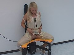 Rubber, Game, Dominatrix bondage rubber slave cbt