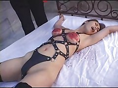 Tied, Dildo, Tied up asian with rabbit vibrator