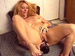Bottle, Mature wife sucks off husband and his two friends and swallows all the cum