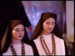 Nun, Teen, Two teens webcam dance pull down