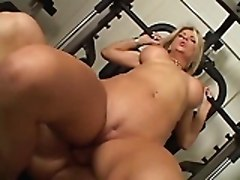 Gym, Hot young mom sexy at gym