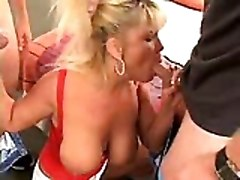 Blonde, Strange mutual men and woman masturbation