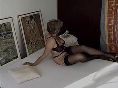 Granny, Black, Stockings, Mature stockings anal