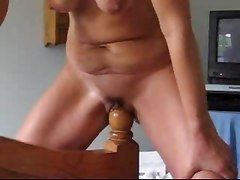 Bedpost anal insertions