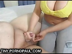 Small Cock, Fat, Fat man cum eating
